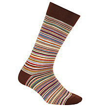 Buy Paul Smith Multi Stripe Cotton Socks, One Size, Orange Online at johnlewis.com