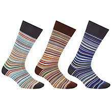Buy Paul Smith Multi Stripe Socks Gift Set, Pack of 3, One Size, Multi Online at johnlewis.com