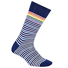 Buy Paul Smith Fine Multi Stripe Socks, One Size, Navy Online at johnlewis.com