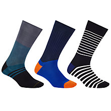 Buy Paul Smith Vary Stripe Socks Gift Set, Pack of 3, One Size, Multi Online at johnlewis.com