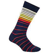 Buy Paul Smith Sliding Stripe Cotton Socks, One Size Online at johnlewis.com