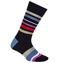 Buy Paul Smith Flux Stripe Cotton Socks, One Size Online at johnlewis.com