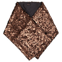 Buy Phase Eight Joella Metallic Shawl, Copper Online at johnlewis.com