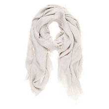 Buy Mint Velvet Textured Scarf, Grey Online at johnlewis.com