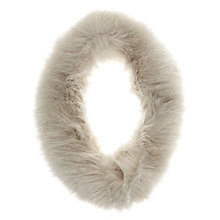 Buy Mint Velvet Textured Faux Fur Snood, Grey Online at johnlewis.com