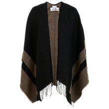 Buy Miss Selfridge Block Stripe Cape, Black/Taupe Online at johnlewis.com