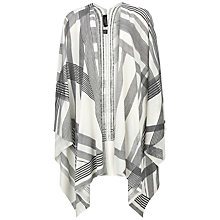 Buy Ted Baker Taesha Monochrome Checked Wrap Cardigan, Natural Online at johnlewis.com