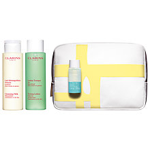 Buy Clarins Cleansing Trousse Skincare Gift Set, Combination / Oily Skin Online at johnlewis.com
