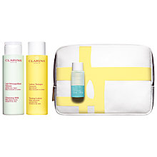 Buy Clarins Cleansing Trousse Skincare Gift Set, Normal / Dry Skin Online at johnlewis.com