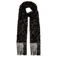 Buy Coast Rosie Skinny Tassel Scarf, Black Online at johnlewis.com