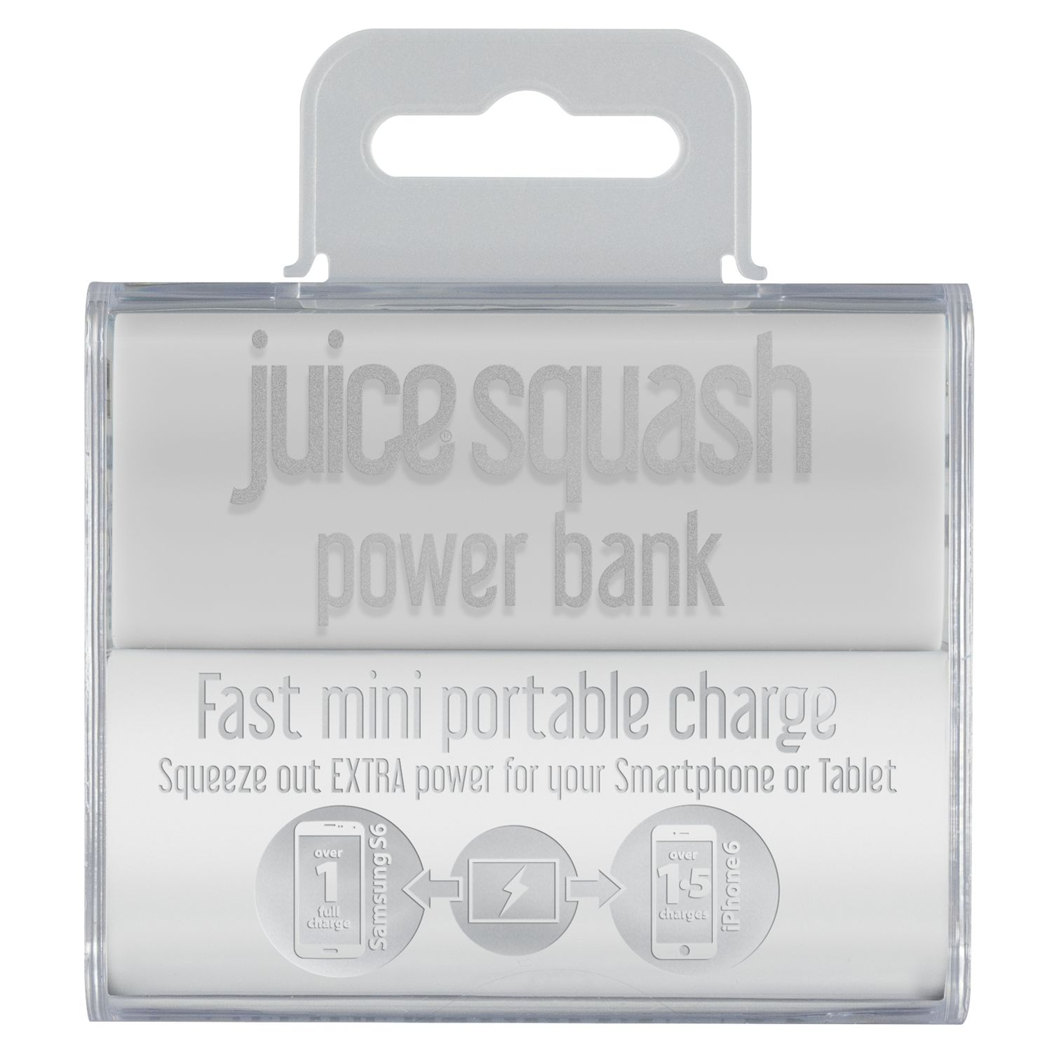 Juice Juice Squash Power Bank Portable Charger with Micro USB to USB Cable