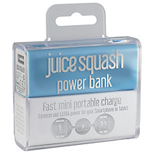 Buy Juice Squash Powerbank Portable Phone Charger, Aqua Online at johnlewis.com
