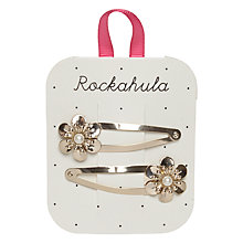 Buy Rockahula Metal Flower Hair Clips, Gold Online at johnlewis.com