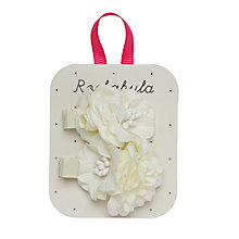Buy Rockahula Tallulah Flower Hair Clips, Pack of 2, Ivory Online at johnlewis.com