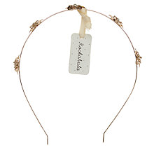 Buy Rockahula Metal Flower Alice Band, Gold Online at johnlewis.com