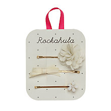 Buy Rockahula Metal Flower Slide Hair Clips, Pack of 3, Ivory/Gold Online at johnlewis.com