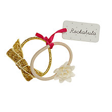 Buy Rockahula Glitter Bow And Flower Ponies, Pack of 2, Ivory/Gold Online at johnlewis.com