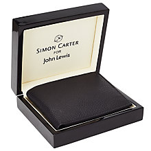 Buy Simon Carter Leather Coin Wallet, Black Online at johnlewis.com