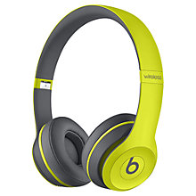 Buy Beats™ by Dr. Dre™ Solo 2 Wireless On-Ear Headphones with Bluetooth, Active Collection Online at johnlewis.com