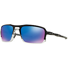Buy Oakley OO9266 Triggerman Rectangular Polarised Sunglasses Online at johnlewis.com