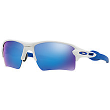 Buy Oakley OO9188 FLAK 2.0 XL Polarised Rectangular Sunglasses Online at johnlewis.com