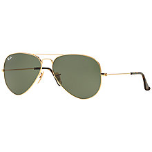 Buy Ray-Ban RB3025 Aviator Sunglasses, Gold Online at johnlewis.com