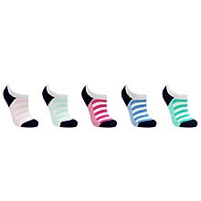 Buy John Lewis Low Rise Stripe Sock Liners, Pack of 5, Multi Online at johnlewis.com