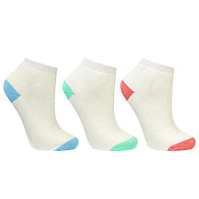 Buy John Lewis Terry Contrast Heel and Toe Detail Ankle Socks, Multi Online at johnlewis.com