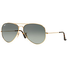 Buy Ray-Ban RB3025 Iconic Gradient Aviator Sunglasses, Grey Online at johnlewis.com