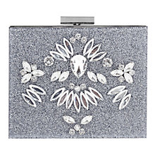 Buy Skinnydip Glitter Bling Clutch Bag, Silver Online at johnlewis.com