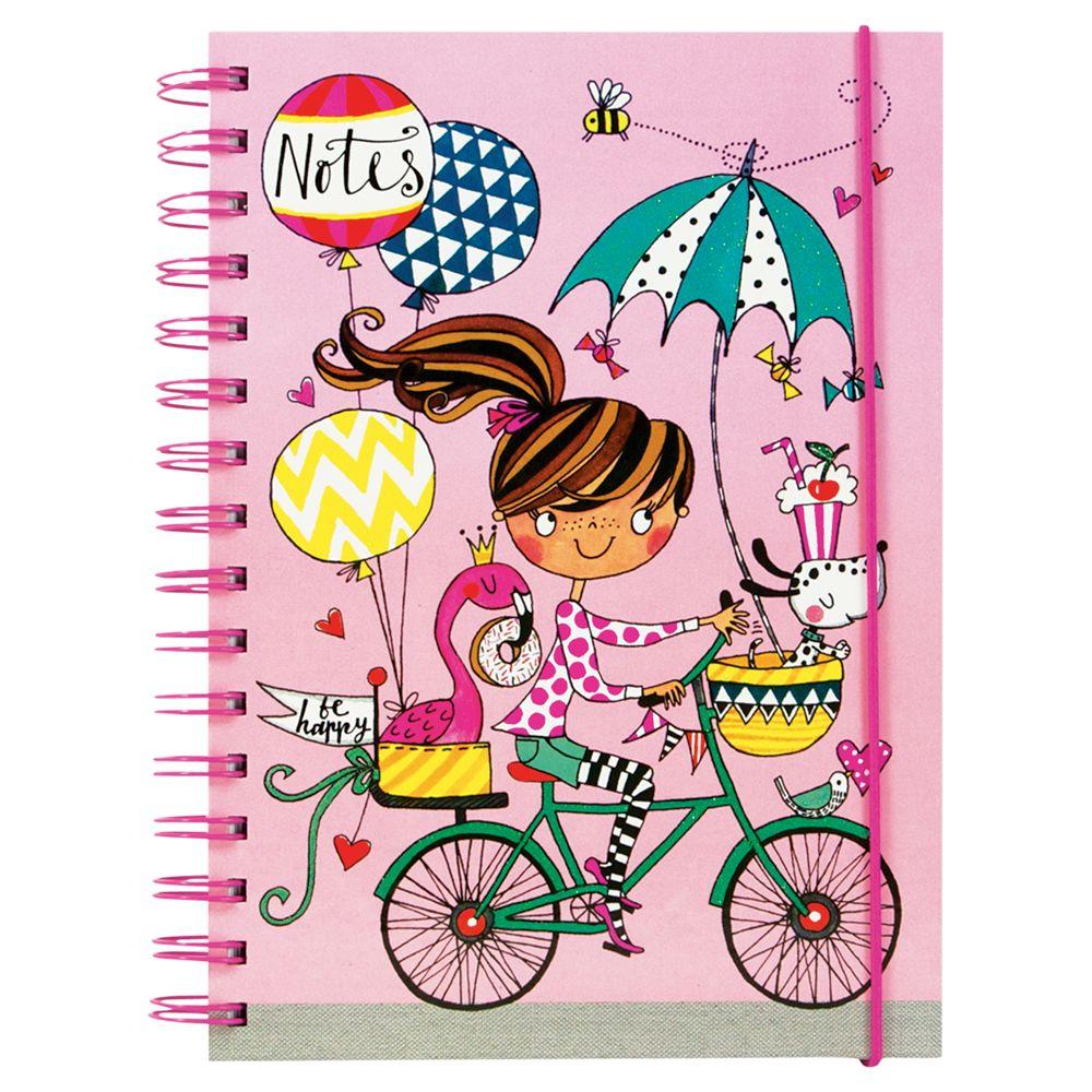 Rachel Ellen Rachel Ellen Girl on a Bicycle A5 Notebook