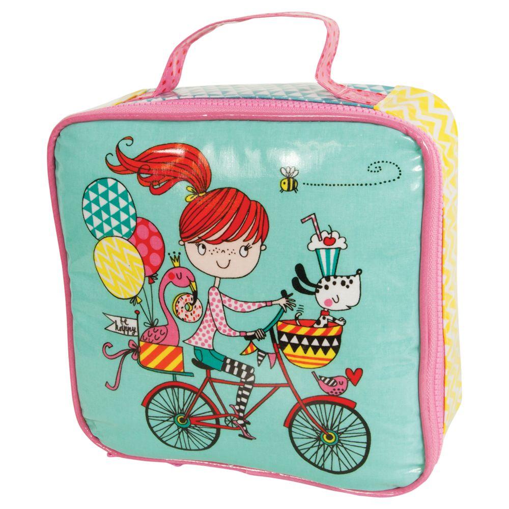 Rachel Ellen Rachel Ellen Girl on a Bicycle Lunch Bag