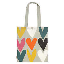 Buy Caroline Gardner Hearts Canvas Bag Online at johnlewis.com