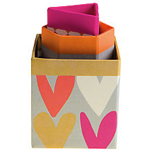Buy Caroline Gardner Triple Hearts Box Pen Tidy Online at johnlewis.com