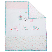 Buy John Lewis Baby Vintage Floral Quilt, White/Multi Online at johnlewis.com