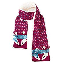 Buy Fat Face Girls' Zennor Fox Scarf, Red Online at johnlewis.com