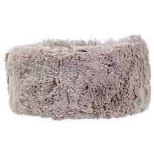 Buy Fat Face Girls' Polperro Faux Fur Headband, Grey Online at johnlewis.com
