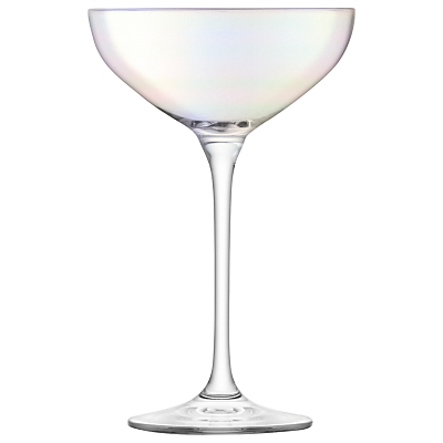 LSA International Tower Champagne Saucers, Set of 10
