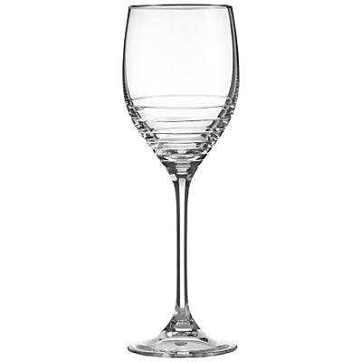 Vera Wang for Wedgwood Grosgrain Noir Platinum Wine Glasses, Set of 2