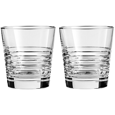 Vera Wang for Wedgwood Grosgrain Noir Platinum Tumbler, Set of 2