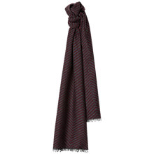 Buy Jaeger Wool Silk Herringbone Scarf, Burgundy Online at johnlewis.com