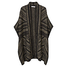 Buy Mango Metal Effect Cape, Black Online at johnlewis.com