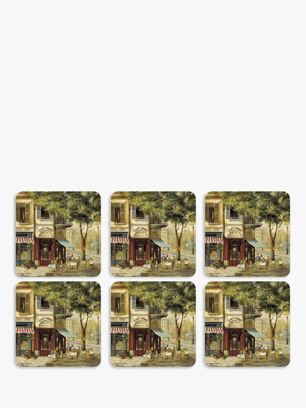 Pimpernel Pimpernel Parisian Scene Coasters, Set of 6