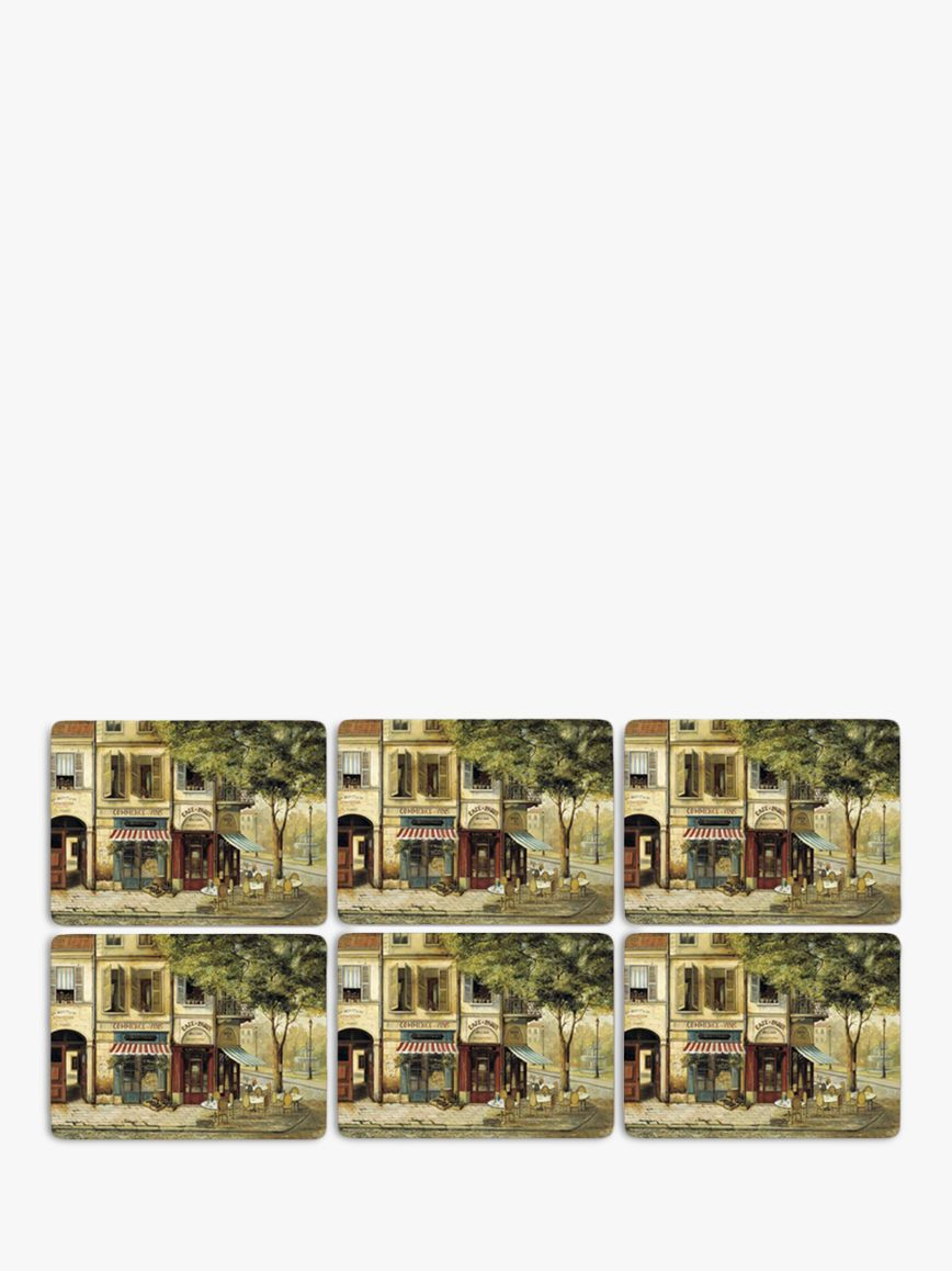 Pimpernel Pimpernel Parisian Scene Placemats, Set of 6