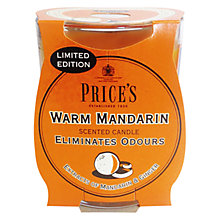 Buy Price's Warm Mandarin Scented Candle Online at johnlewis.com