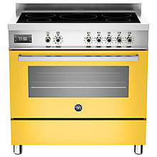 Buy Bertazzoni Professional Series 90cm Electric Induction Single Range Cooker Online at johnlewis.com