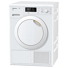 Buy Miele TKB540 WP Freestanding Heat Pump Condenser Tumble Dryer, 8kg Load, A++ Energy Rating, White Online at johnlewis.com