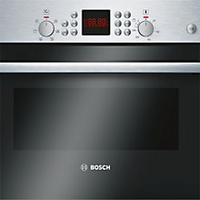 Buy Bosch Serie 6 HBC84H501B Built-In Microwave Oven with Grill, Brushed Steel Online at johnlewis.com