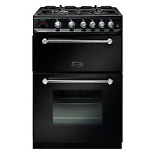Buy Rangemaster Kitchener 60cm KCH60NGFBL/C Gas Range Cooker, Black Online at johnlewis.com