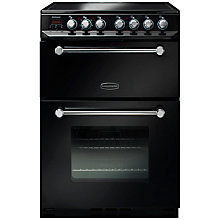 Buy Rangemaster Kitchener 60cm KCH60ECBL/C Electric Range Cooker, Black Online at johnlewis.com